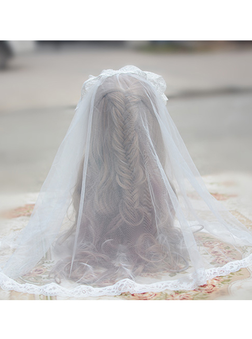 Romantic Tulle Lace Lolita Long Veil