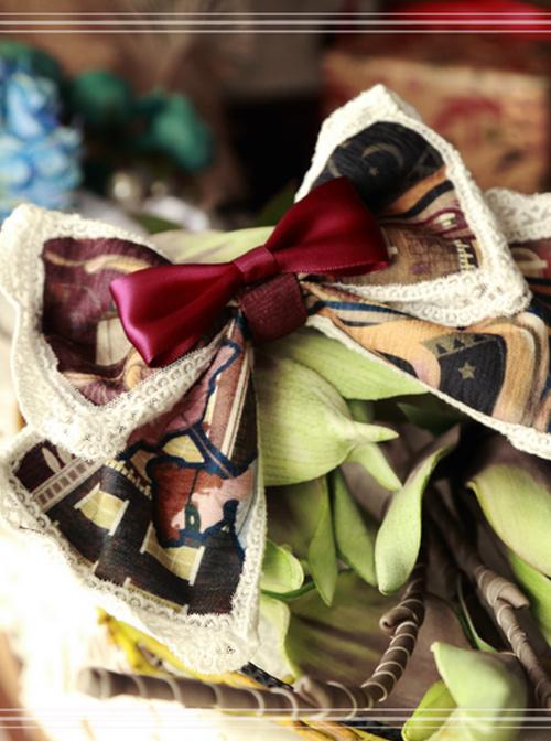 Magic Tea Party Gondola Series Bowknot Lolita Hair Hoop