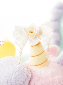 Floral Bowknot Pearl Pendant Sweet Lolita Hairpin