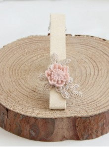 Handmade Concise Light Pink Little Flower Lolita Hairpin