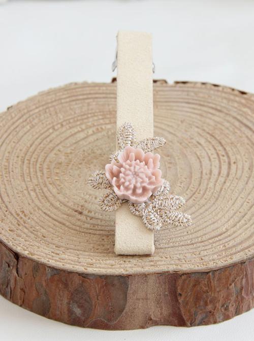 Handmade Concise Light Pink Little Flower Lolita Hairpin