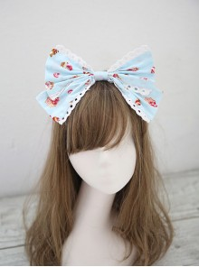 Fashion Strawberry Cupcake Printing Light Blue Sweet Lolita Headband