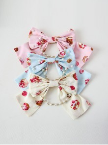 Fashion Strawberry Cupcake Printing Sweet Lolita Brooch