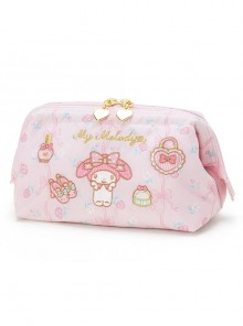 Fashion Melody And Gemini Embroidery Printing Sweet Lolita Storage Bag Stationery Bag