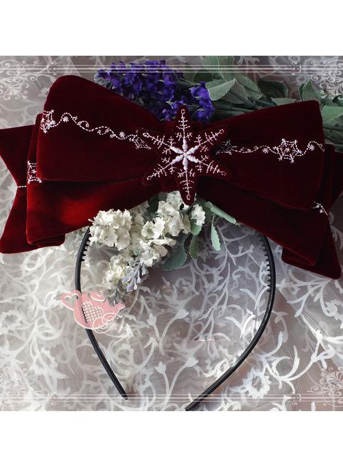 Magic Tea Party The Mass Of Winter Series Embroidery Pattern Lolita Headband