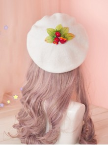 Strawberry Berries Cute Lolita Beret