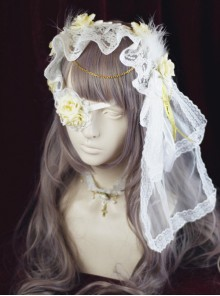 Retro Lace Cross Rose Gothic Lolita Headband