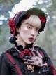 Palace Style Lace Ribbon Gothic Lolita Bonnet