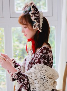 Retro Floral Cotton Cloth Classic Lolita Hair Band