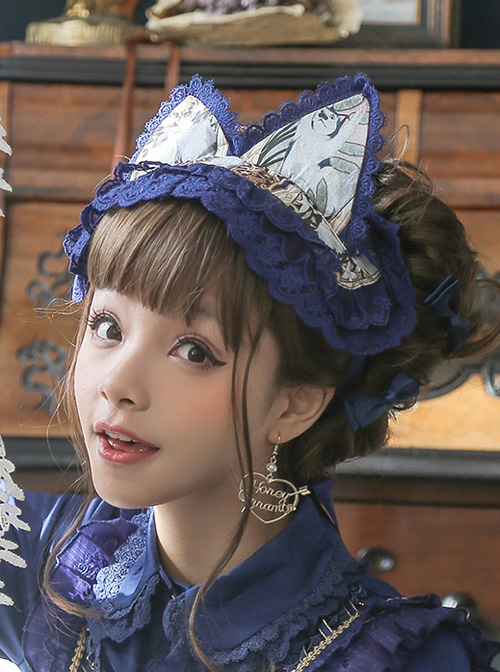 Cat Tarot Series Chiffon Cat Ears Classic Lolita Hair Band
