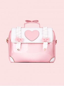 Cute Loving-heart Laptop bag Lolita High-capacity Bag