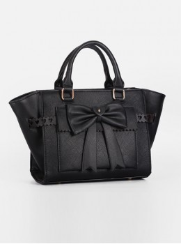 Pure Color Bowknot Messenger Bag Lolita Bag