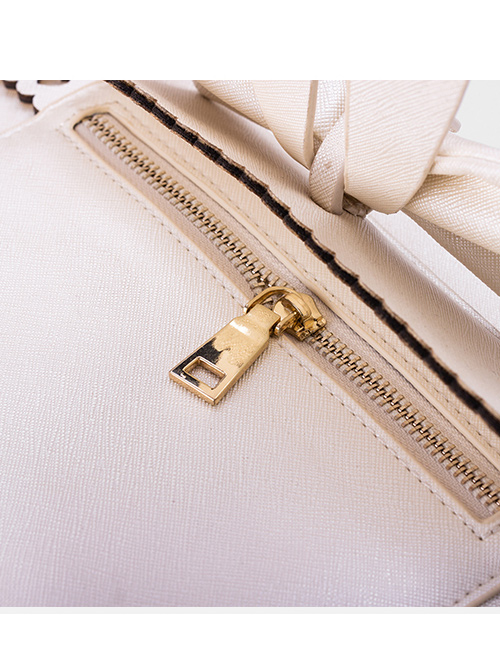 Pure Color Bowknot Messenger Bag Lolita Bag