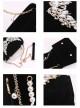 Elegant Retro Swan Lake Black Velvet Pearl Shoulder Bag