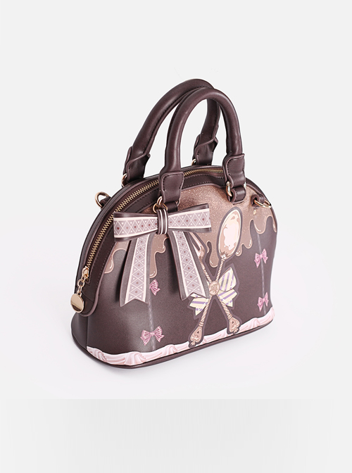 Chocolate Sauce Bowknot Spoon Shoulder Bag