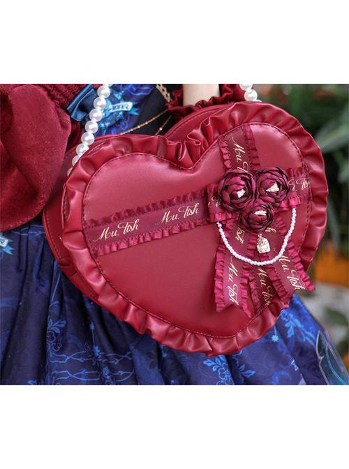 Elegant Heart-shaped Gift Box Lolita Shoulder Bag