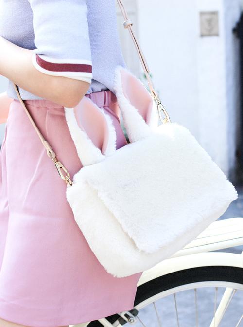 Cute White Rabbit Ears Lolita Shoulder Bag