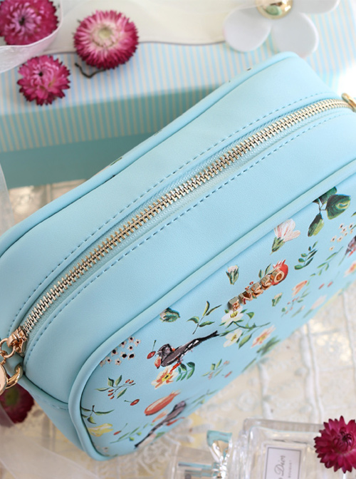 Retro Pastoral Style Plant Printing Lolita Shoulder Bag