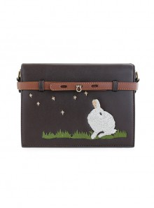 Pastoral Style Little White Rabbit Embroidery Classic Lolita Shoulder Bag