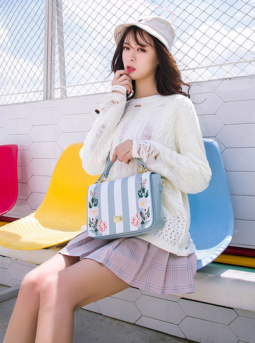 Pastoral Style Botany Embroidery Classic Lolita Shoulder Bag