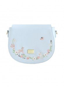 Light Blue Cute Embroidery Lolita Shoulder Bag