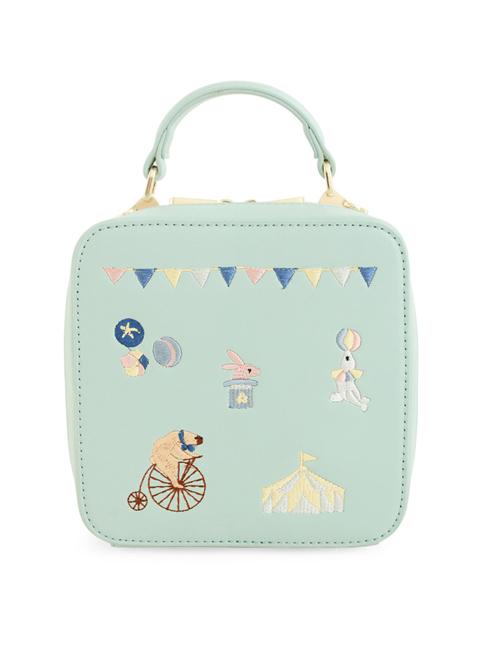 Cute Animals Embroidery Light Green Lolita Shoulder Bag