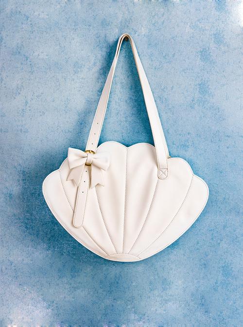 Elegance White Pearl Shell Bowknot Lolita Shoulder Bag