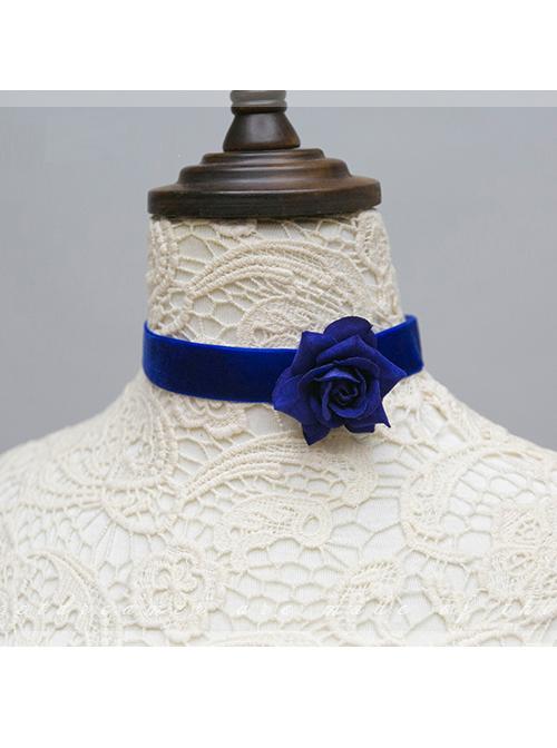 The Little Prince Series Velvet Rose Lolita Necklace