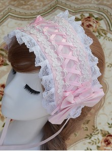Pink Chiffon Printing Lace Sweet Lolita Hair Band