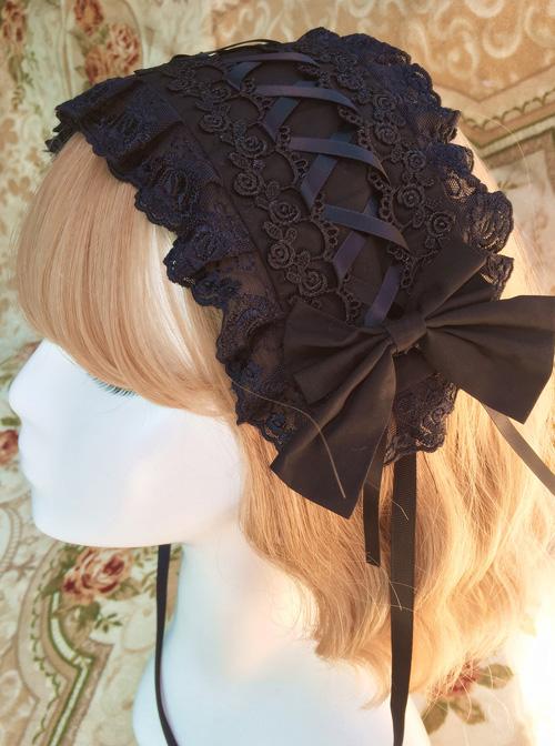 Pink Chiffon Printing Lace Sweet Lolita Hair Band