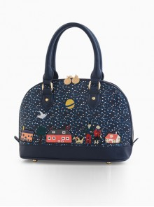 Retro Seashell Bag Embroidery Collage Lolita Shoulder Bag
