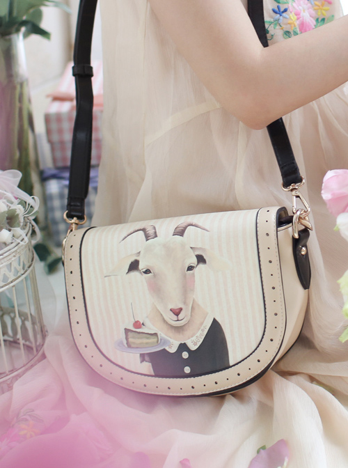 Fairytale Printing Goats Lady Lolita Shoulder Bag