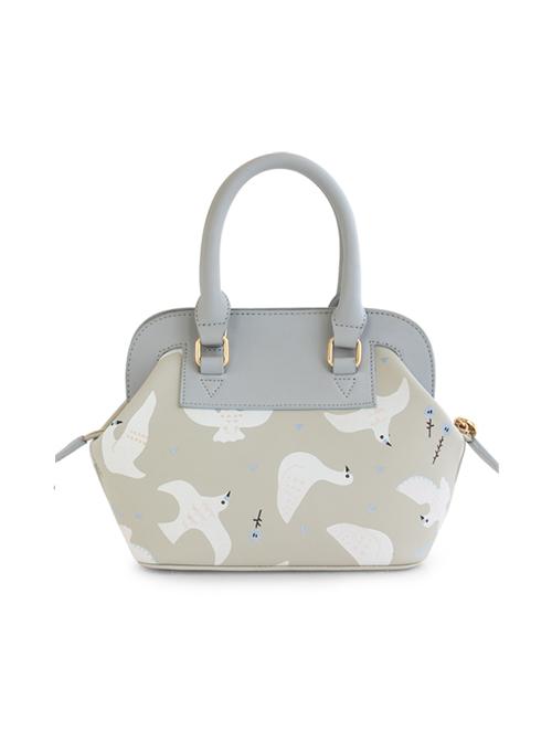 White Dove Pattern Lolita Shoulder Bag