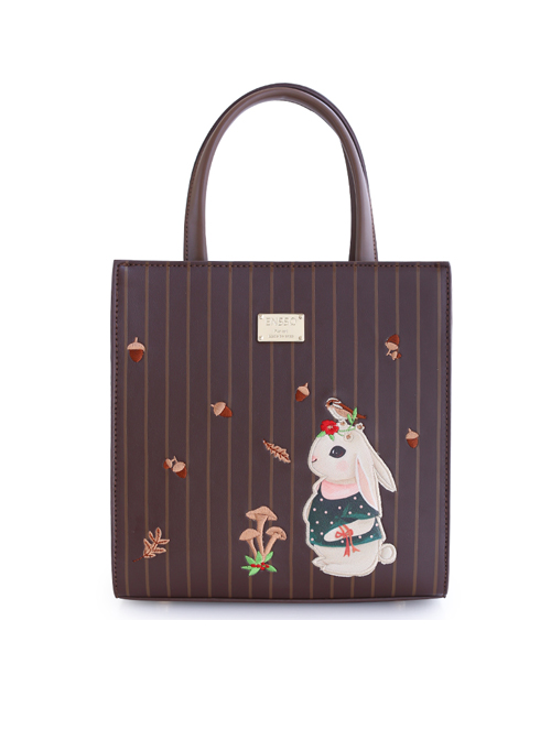 Retro Cute Animal Pattern Blue Lolita Shoulder Bag