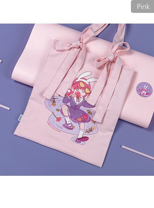 Retro Girl Printing Lolita Handbag Shoulder Bag