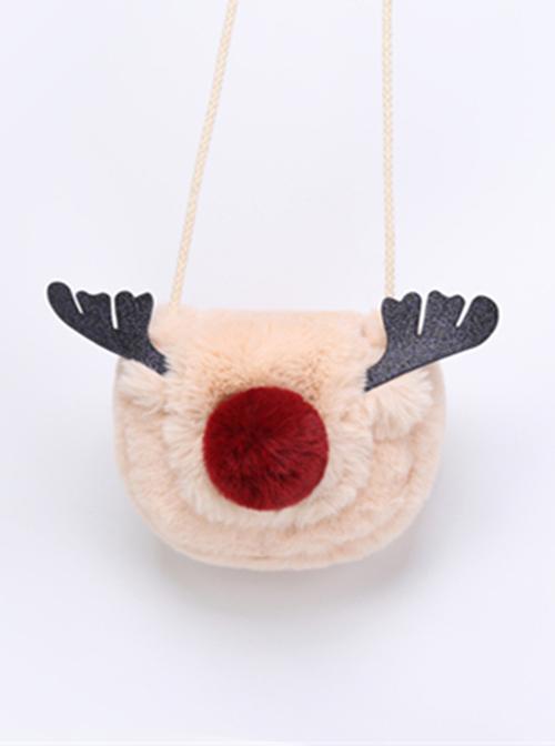Gentle Cute Deer Pattern Lolita Creamy-white Shoulder Bag
