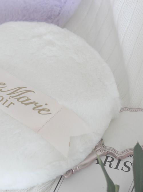 Cute Ribbon Downy Powder Puff Shape Lolita Shoulder Bag