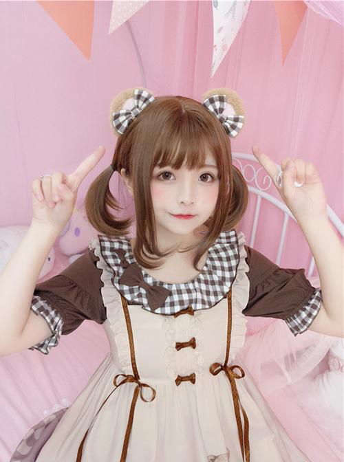 Cute Brown Little Bear Ears Sweet Lolita Hair Clips