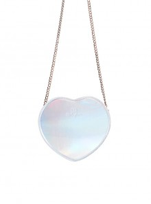 Cute Little Heart Shape Laser Chain Lolita Shoulder Bag