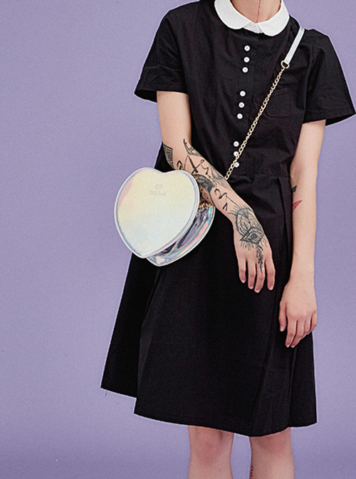 Cute Little Heart Shape Laser Chain Lolita Shoulder Bag