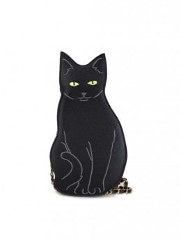 Cheshire Cat Embroidery Black Lolita Shoulder Bag