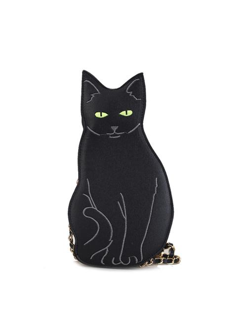 Cat-shaped Black Gothic Lolita Shoulder Bag