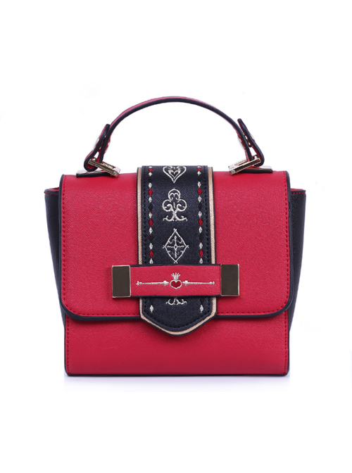 Alice In Wonderland The White Queen And The Red Queen Lolita Matte Shoulder Bag