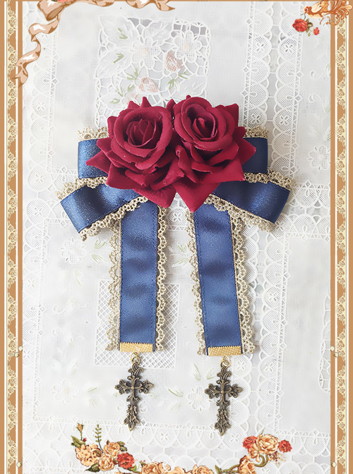 The Heavenly Kingdom's Bell Series Classic Lolita Rose Brooch