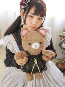 Sweet Lolita Cute Bear Doll Inclined Shoulder Bag And Bear's Dress Set