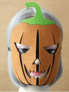Halloween Dance Party Pumpkin Lantern Full Face Gothic Lolita Mask