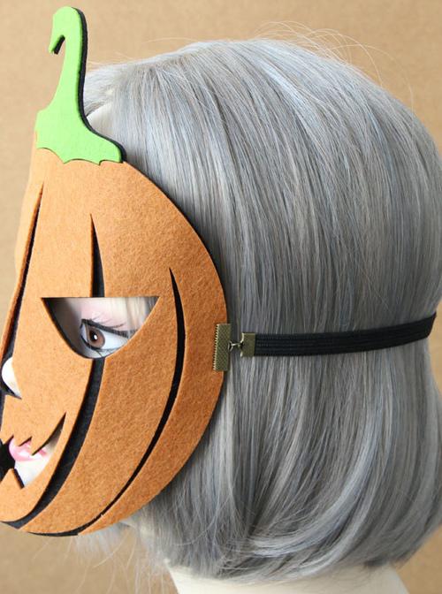 Halloween Dance Party Pumpkin Lantern Full Face Gothic Lolita Mask