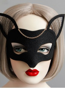 Fox Net-yarn Half Face Mask Halloween Christmas Mask Masquerade