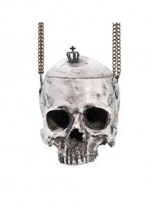 Halloween Gray Skull Chain Shoulder Bag