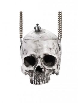 Halloween Gray Skull Chain Shoulder Bag
